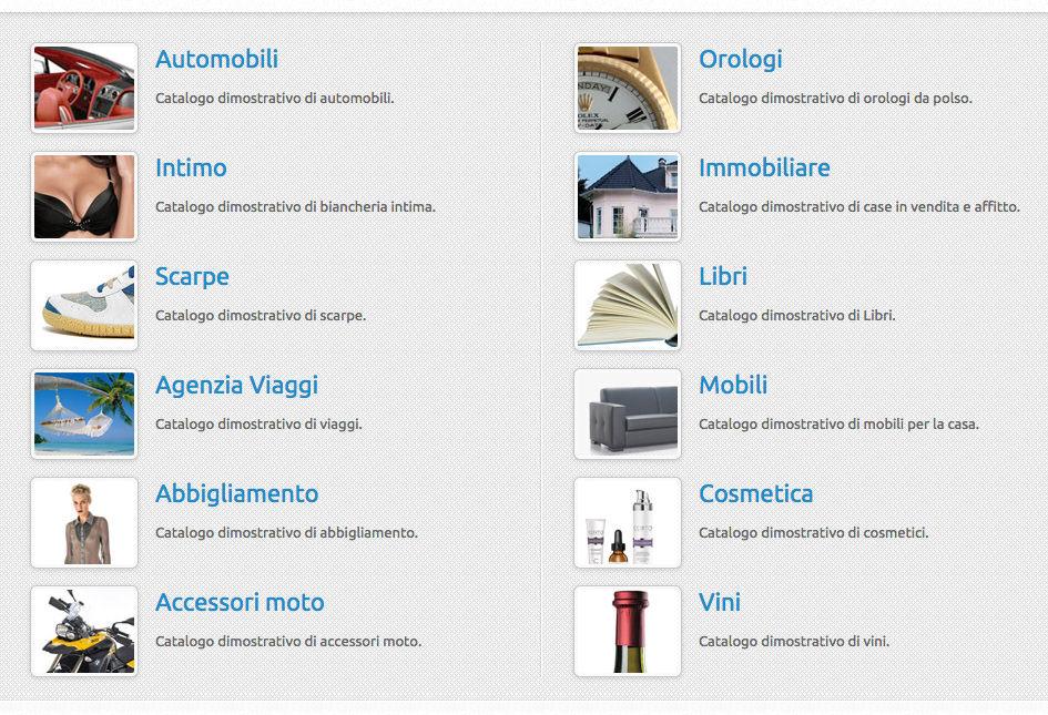 catalogo prodotti online shift como realizzazione sito catalogo