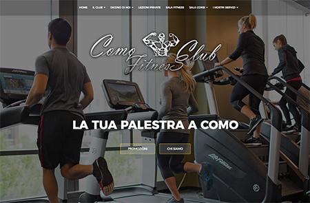 como fitness club sito realizzato da shift