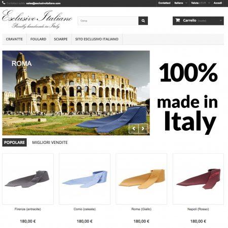 esclusivo italiano store ecommerce realizzato da shift como