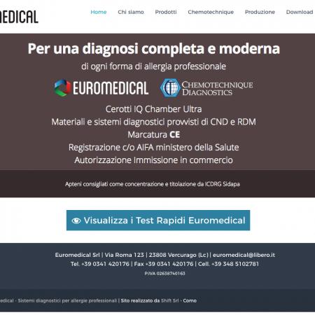 euromedical sito realizzato shift como