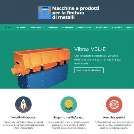 vibrochimica sito realizzato da shift como